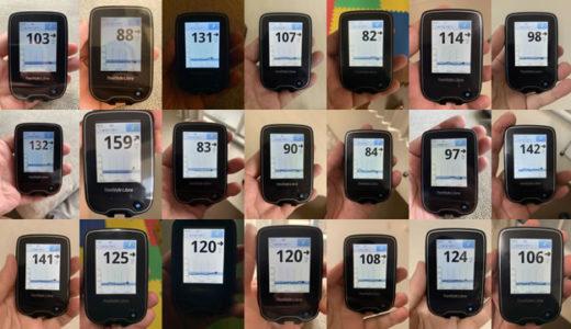 血糖値こんな感じで測ってます。